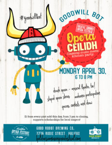 Opera Ceilidh Kitchen Party, April 30, at the Good Robot Brewing Company